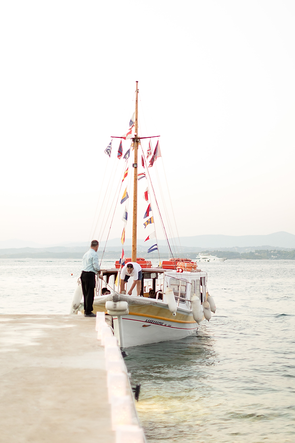 Kaiki spetses wedding venue in Greece. A'kaiki' boat to transfer your guests to the venue