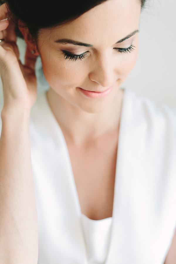 Lovely bride smiling