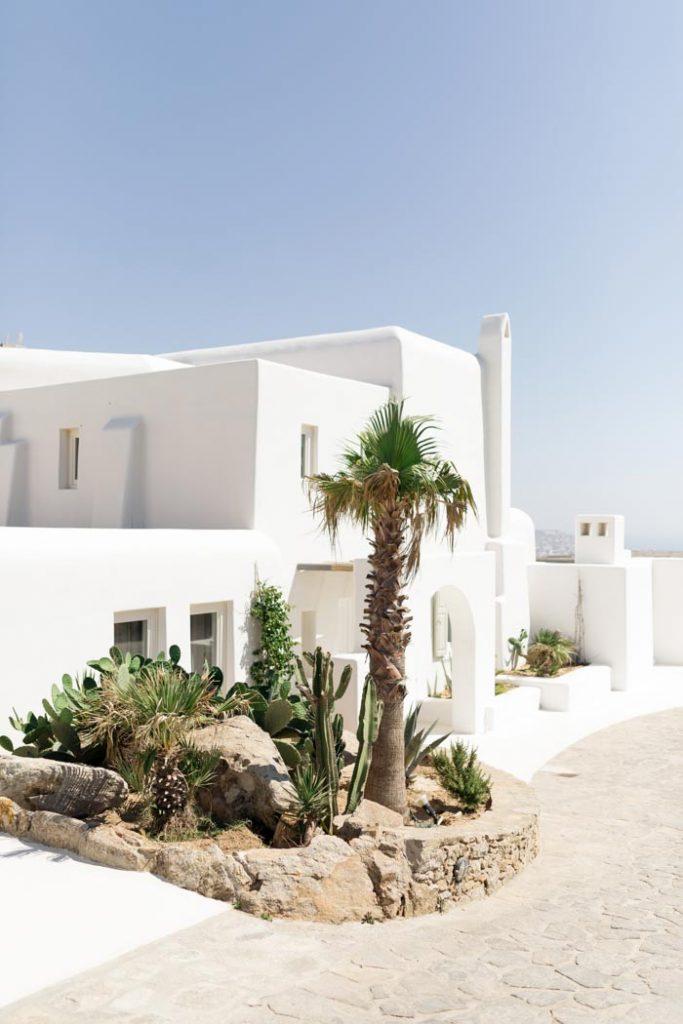 Mykonos island white houses in Greece