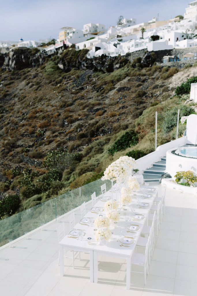 Dana villas wedding venue in Santorini Greece