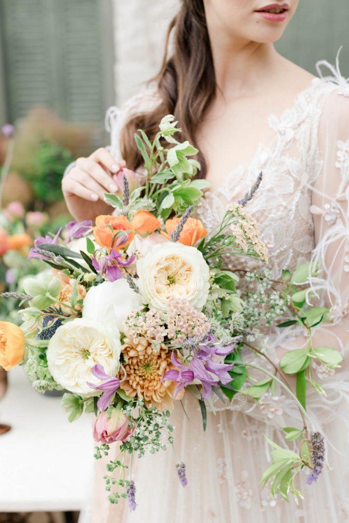 Bridal organic wedding bouquet inspiration in Greece - Florals by Jim Labrako